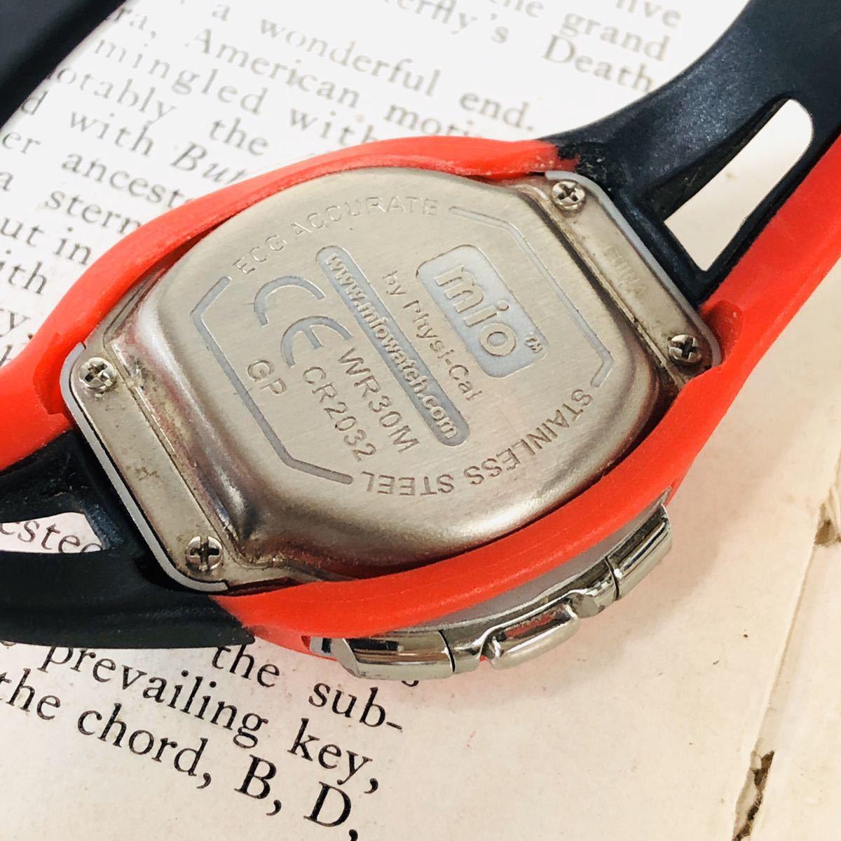 mio ミオ 腕時計 ブラック レッド DRIVE 心拍計 デジタル 稼動品 W1028_画像8