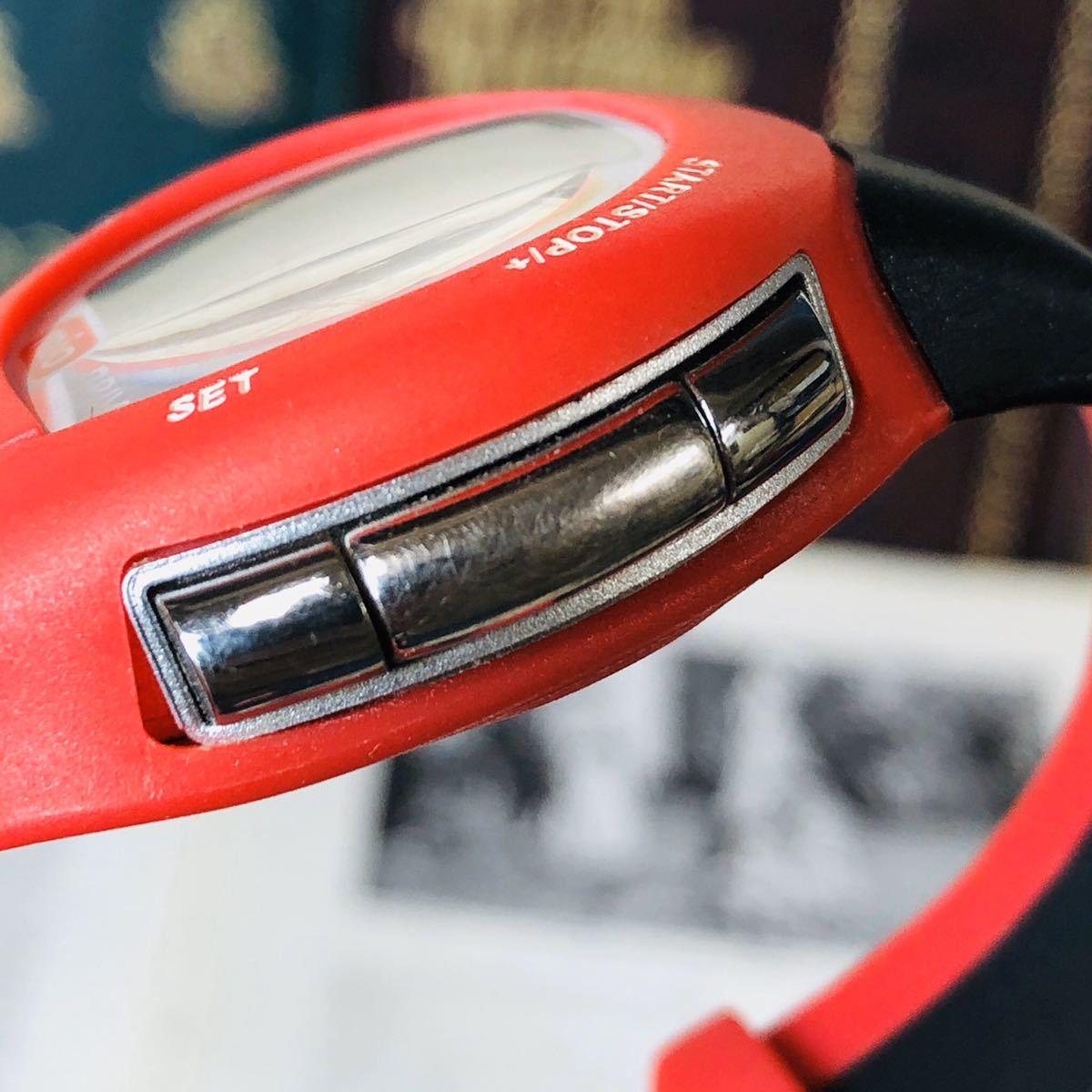 mio ミオ 腕時計 ブラック レッド DRIVE 心拍計 デジタル 稼動品 W1028_画像10