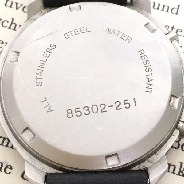 ★ Eddie Bauer デジアナ 多機能 腕時計 ★エディーバウアー 3針 アラーム クロノ 逆回転防止ベゼル レザーバンド 稼動品 F2335_画像9