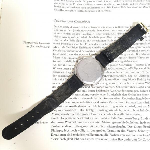 ★ Eddie Bauer デジアナ 多機能 腕時計 ★エディーバウアー 3針 アラーム クロノ 逆回転防止ベゼル レザーバンド 稼動品 F2335_画像8