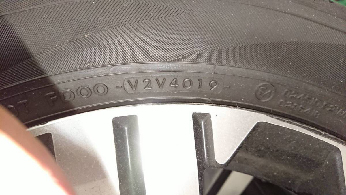大放出!! 2019/02 BIGマイナー仕様 DELICA デリカ D5 純正タイヤ 225/55R18 & 純正アルミホイール_タイヤ製造19年40週