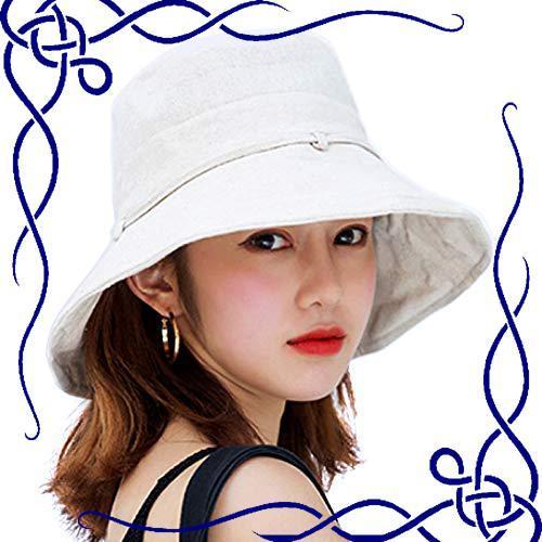UVカット 帽子 ハット レディース 日よけ帽子 紫外線対策 日焼け防止 熱中症予防 折りたたみ つば広 軽量 おしゃれ 可愛い _画像1