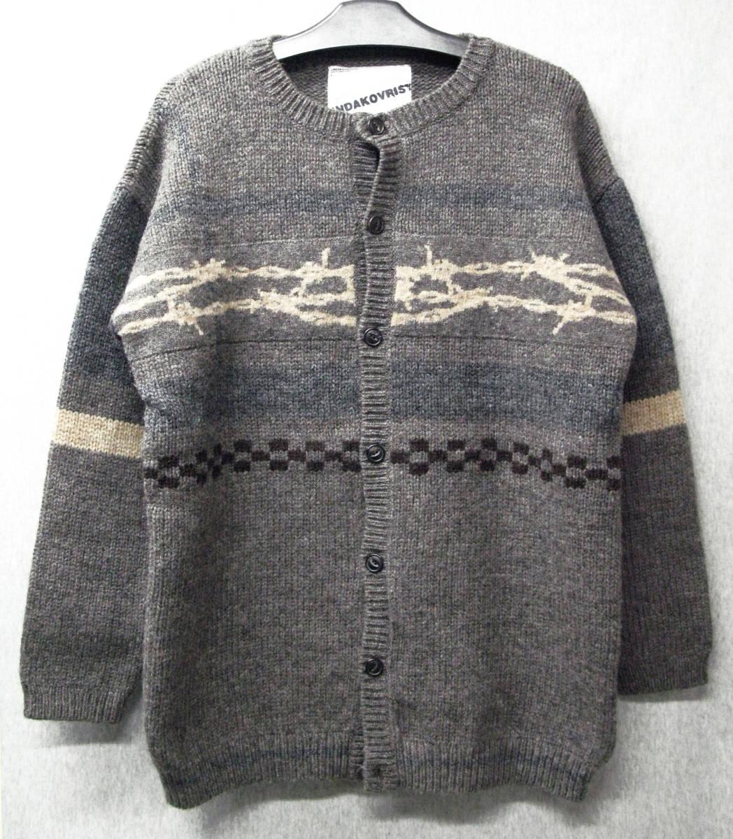 アンダーカバー UNDER COVER:ウール ニット ワイヤー カーディガン ( セーター UNDAKOVRIST UNDER COVER Vintage Wool Knit Cardigan_画像1