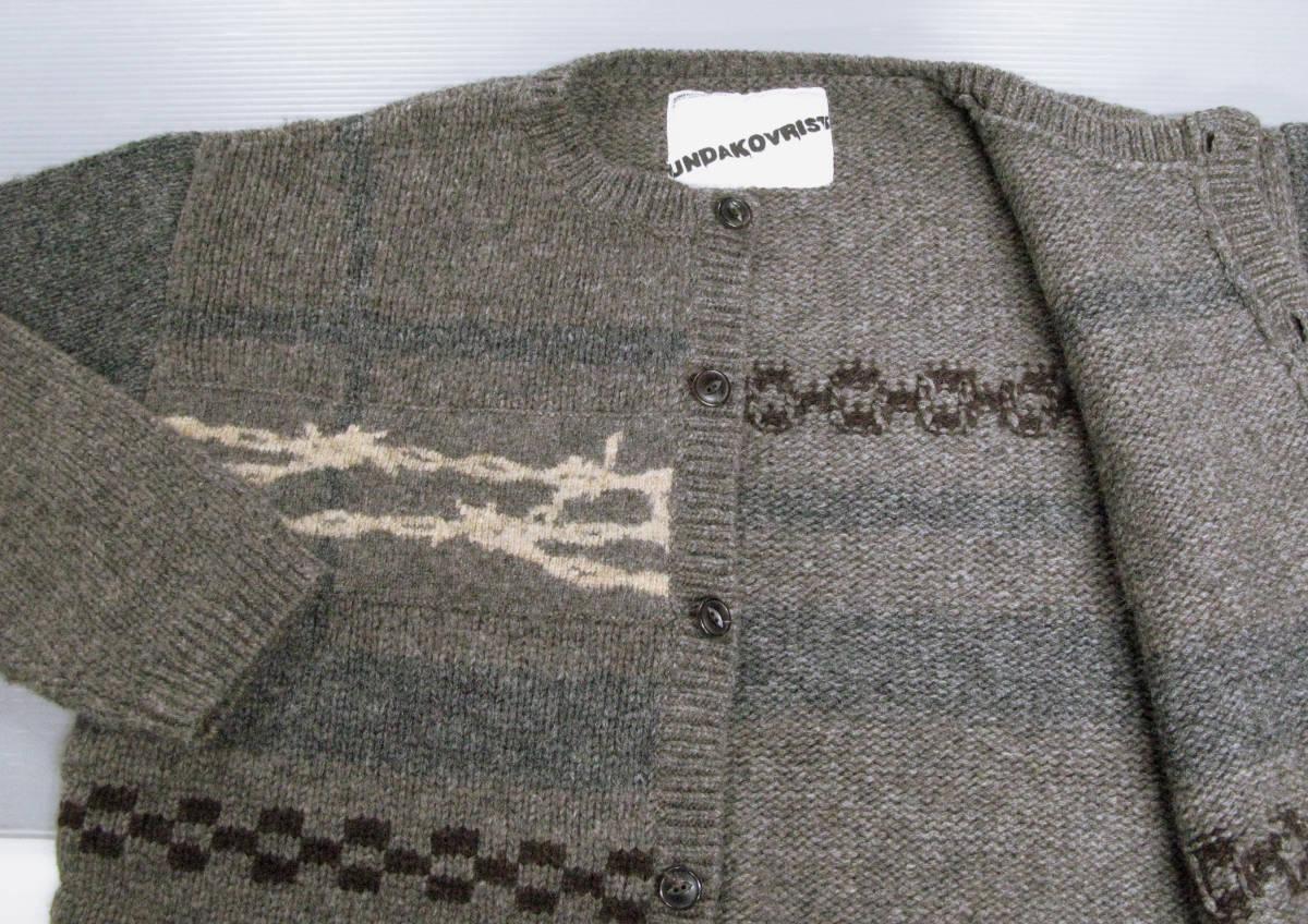 アンダーカバー UNDER COVER:ウール ニット ワイヤー カーディガン ( セーター UNDAKOVRIST UNDER COVER Vintage Wool Knit Cardigan_画像3