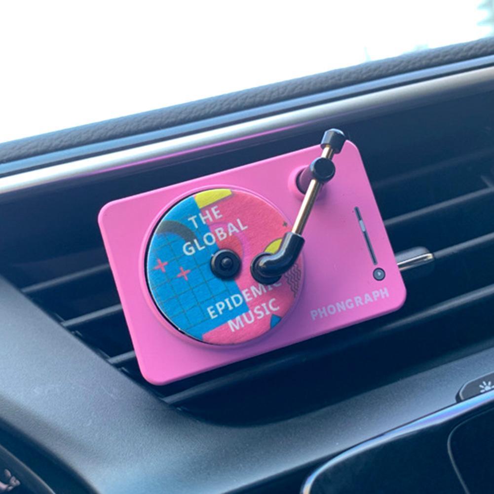 アロマベント出口車の空気清浄スタイリング旅行ディフューザープレーヤーインテリアアクセサリー固体香水クリップオンミニ_画像1