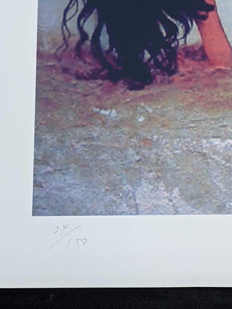 コレクター出品 西村春海作 人物画 リトグラフ シルクスクリーン 版画 はるかなる熱砂 24/150 美人画 直筆サイン入り_画像7