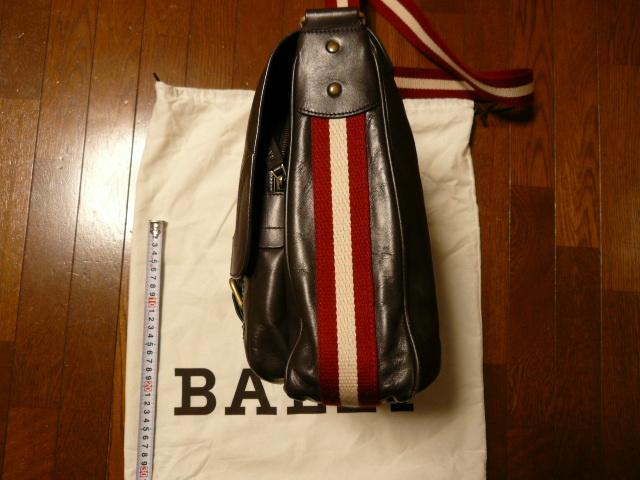 BALLY バリー レザー ストライプ ショルダー バッグ_画像4