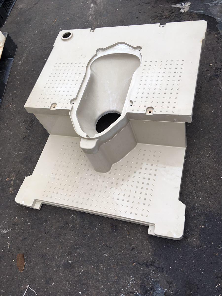 仮設トイレ 部品 簡易トイレ 和式 本水洗 下水道 浄化槽  (検 SNK仮設トイレ_画像1