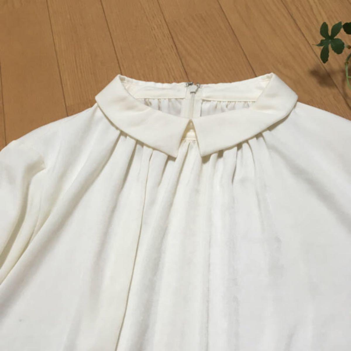 ブラウス ホワイト 白 長袖