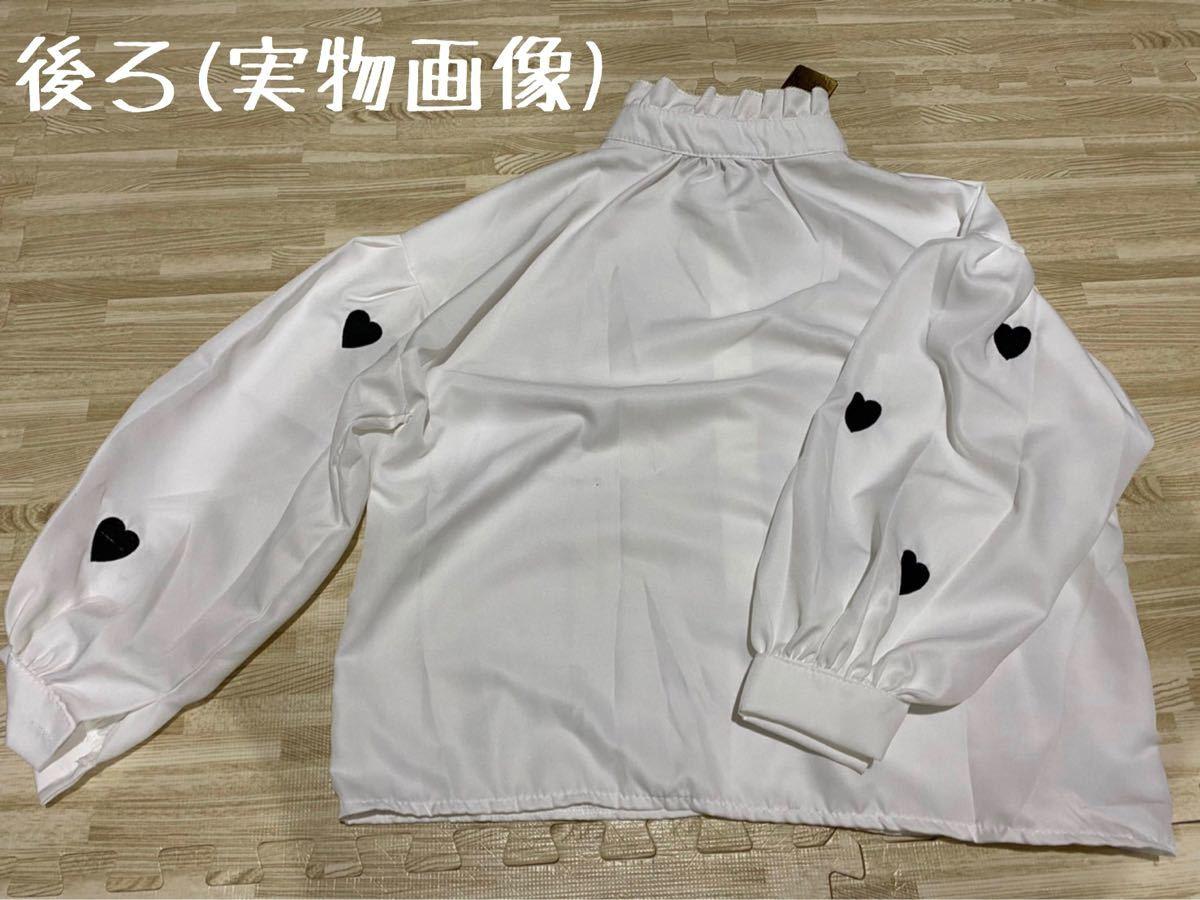 ブラウス キレイめ 韓国ファッション オルチャン 刺繍 秋冬 レイヤード