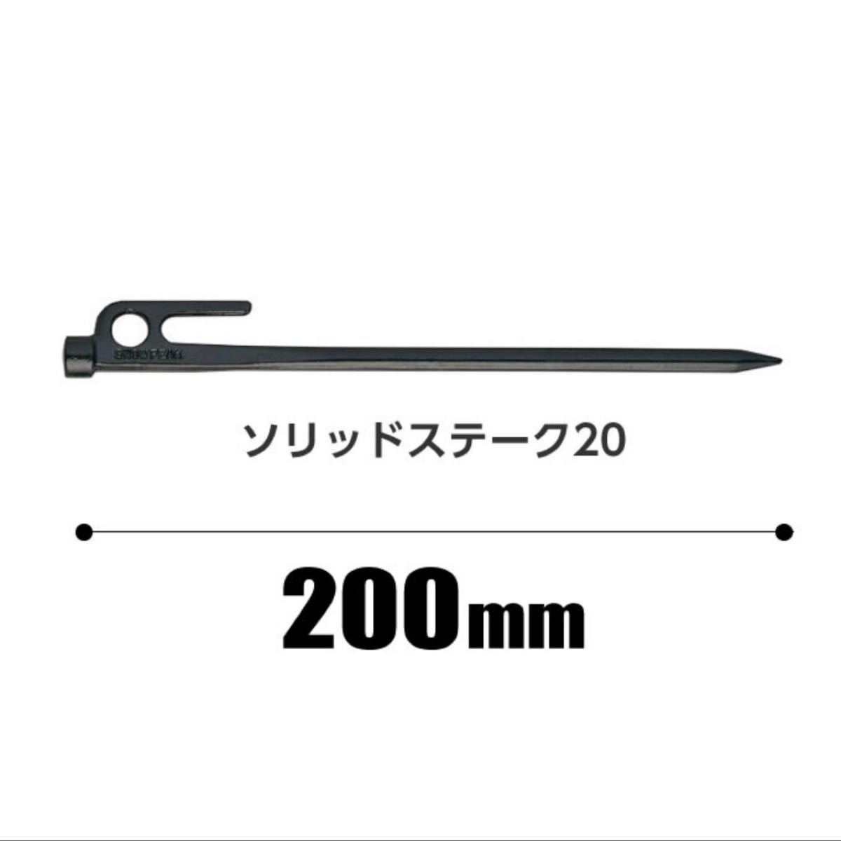 スノーピーク ペグ 20cm 2本セット ソリッドステーク20 R-102