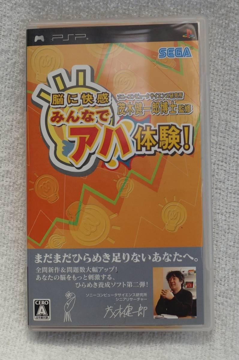 PSPゲーム ソニーコンピュータサイエンス研究所 茂木健一郎博士監修 脳に快感 みんなでアハ体験! ULJM-05189