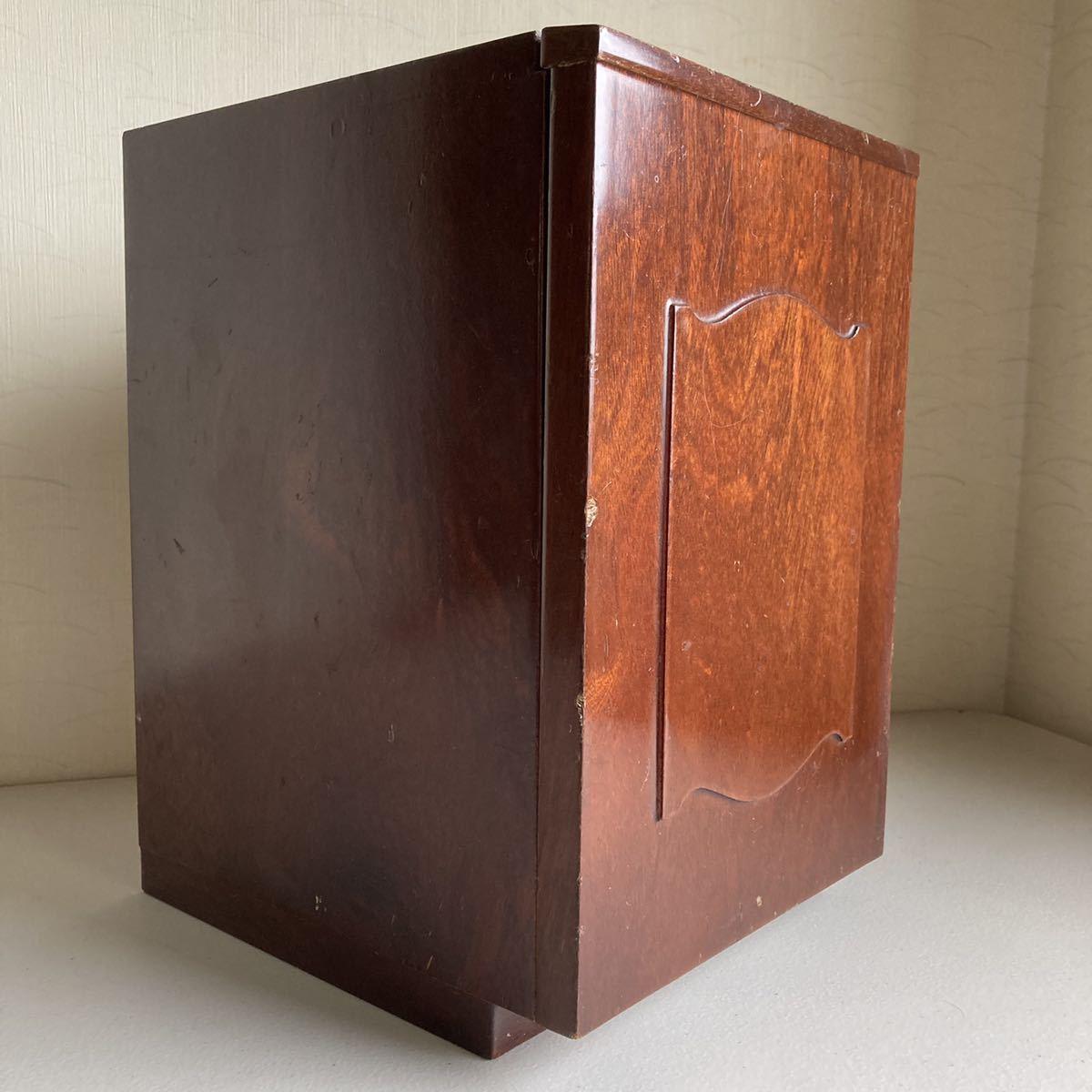 昭和レトロ 小さな 鏡台 古道具 小物入れ 化粧台 ミラー 折り畳み 引き出し _画像3
