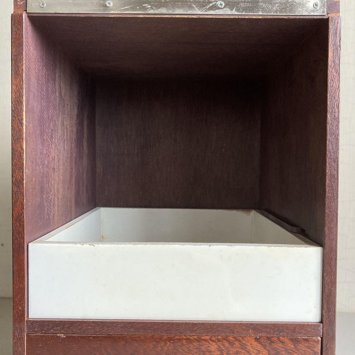 昭和レトロ 小さな 鏡台 古道具 小物入れ 化粧台 ミラー 折り畳み 引き出し _画像6