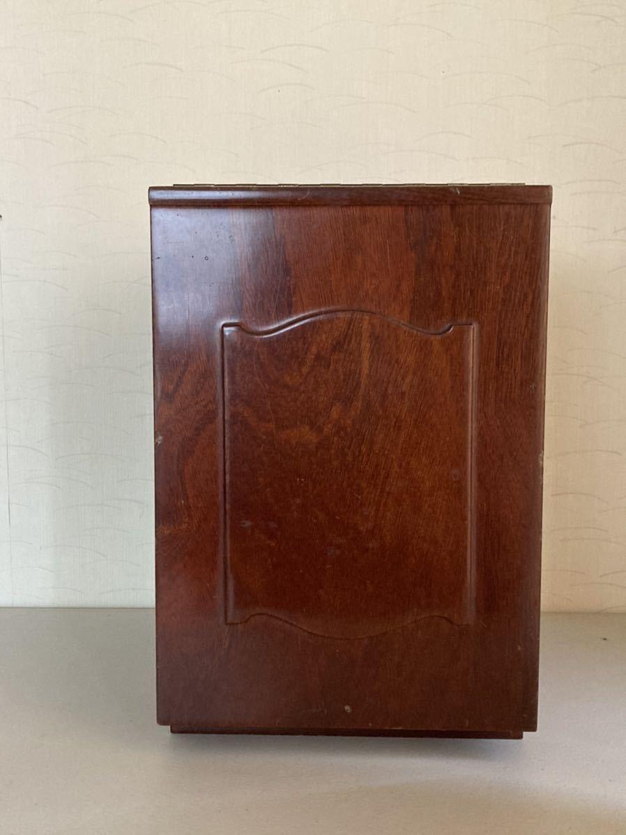 昭和レトロ 小さな 鏡台 古道具 小物入れ 化粧台 ミラー 折り畳み 引き出し _画像4