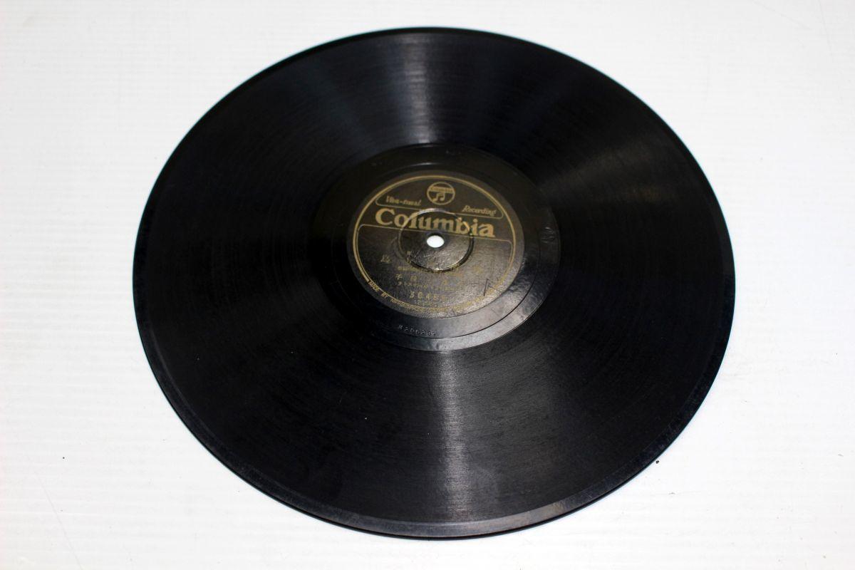 S37/SP盤/流行歌 高峰三枝子「純情渡り鳥」/藤山一郎・ミスコロムビア「肩を並べて」_画像2