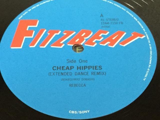【V133】Rebecca レベッカ/Cheap Hippies/12AH-2150/Fitzbeat-CBSソニー/12inch_画像3