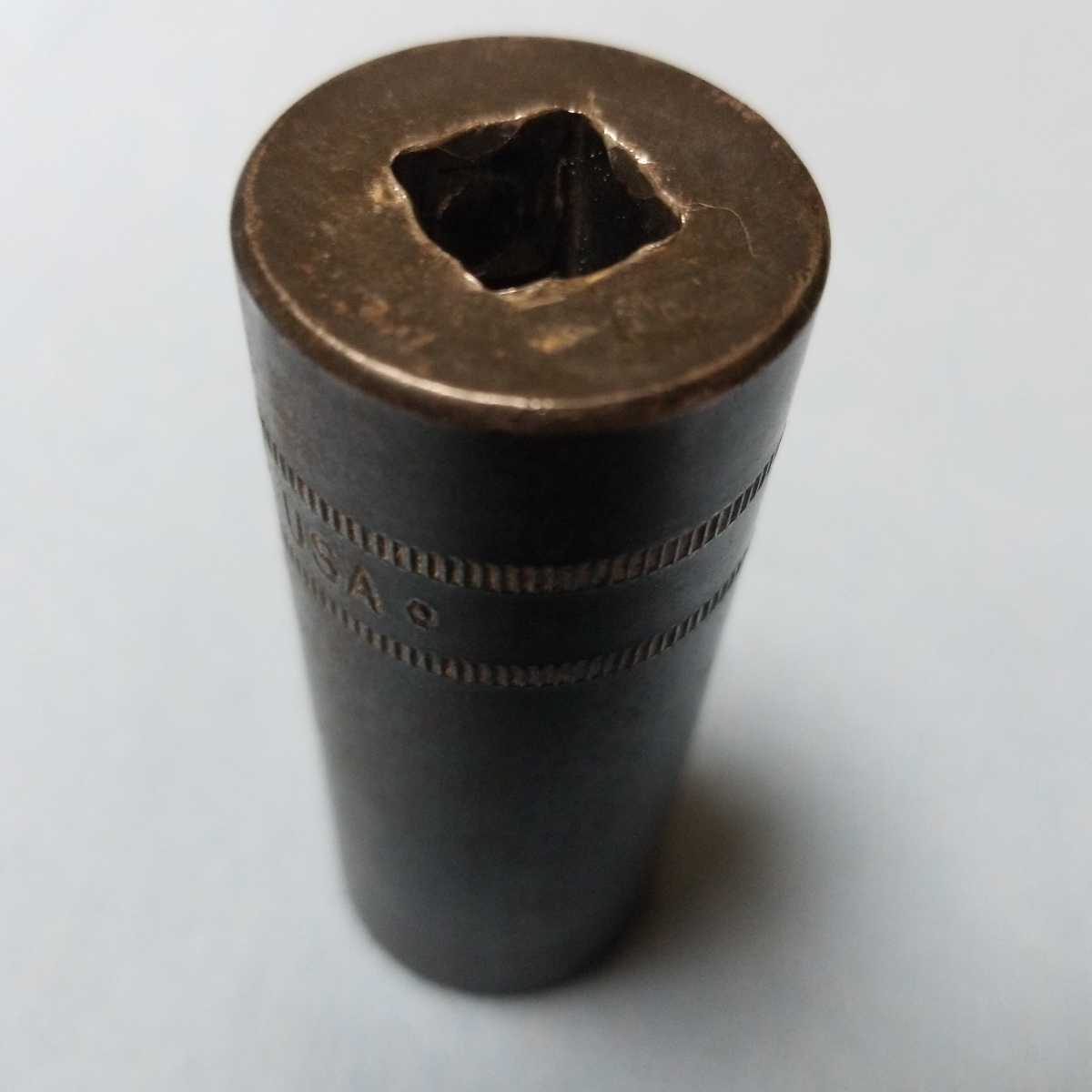 3/8 ディープ 19mm スナップオン インパクト ソケット SIMFML19 中古品 保管品 SNAP-ON SNAPON ディープソケット ソケットレンチ 旧ロゴ 6P_画像3