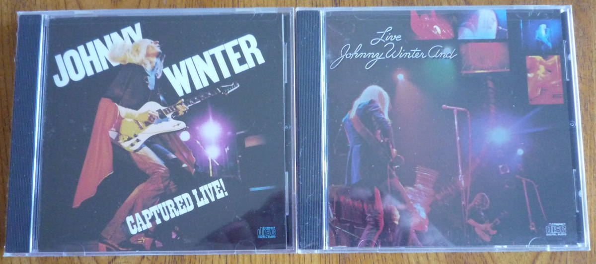 ■ 【CD2枚セット/新品未開封】 JOHNNY WINTER - CAPTURED LIVE! / JOHNNY WINTER AND - LIVE