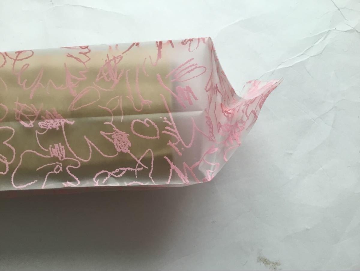 ラッピング袋花柄 テープ無し100枚