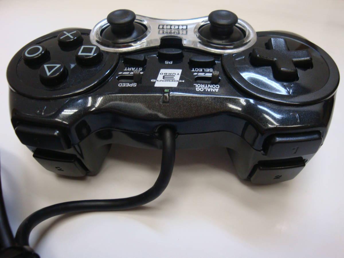 注意事項必読 K870 ゲーム ジャンク コントローラー HORI ホリパッド3 TURBO ターボ ブラック 01_画像6