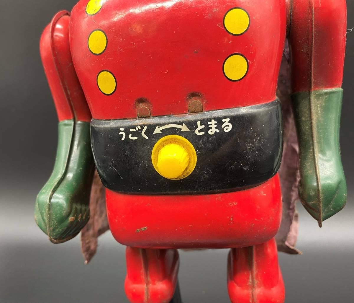 保管品 中古品 ジャンク品 ブリキ ビッグX 電動歩行 昭和 レトロ アンティーク 手塚治虫 YS20201022_画像8