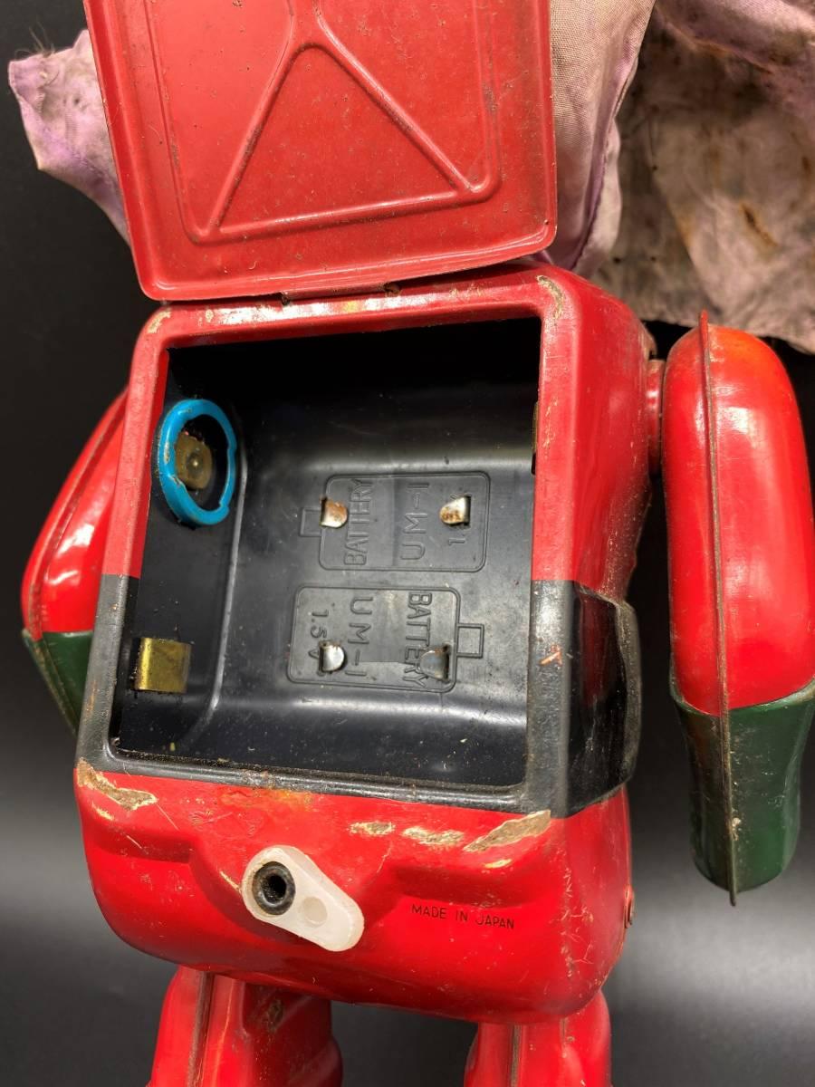 保管品 中古品 ジャンク品 ブリキ ビッグX 電動歩行 昭和 レトロ アンティーク 手塚治虫 YS20201022_画像5