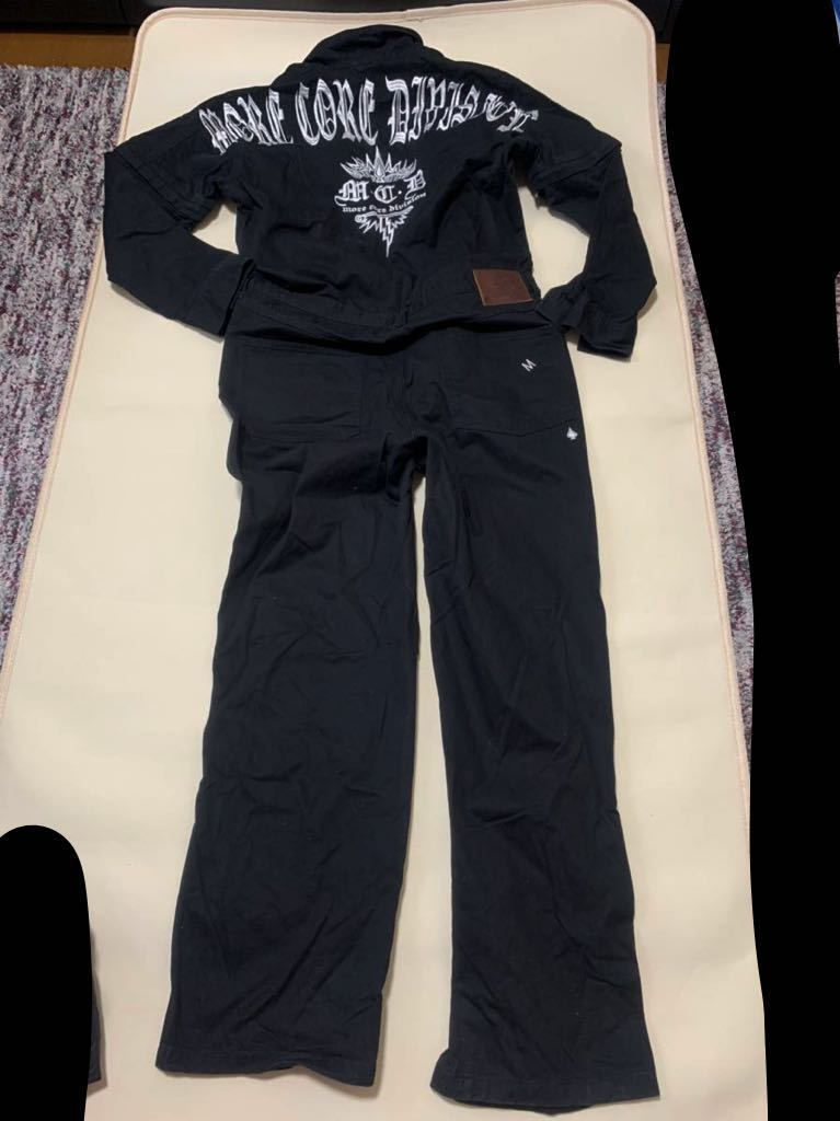 美品 MCD More Core Division モアコアディビジョン つなぎ ツナギ オーバーオール Lサイズ 黒 長袖 半袖