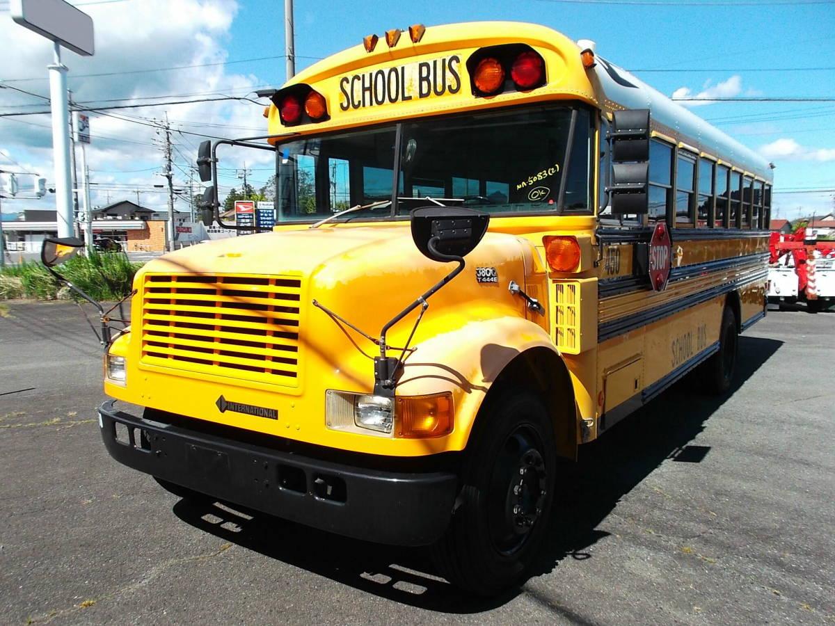 「★2000年インターナショナル USA アメリカンスクールバス ボンネッバス 希少車 」の画像1