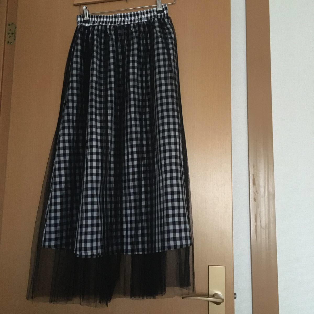 ロングスカート プリーツスカート チュールスカート