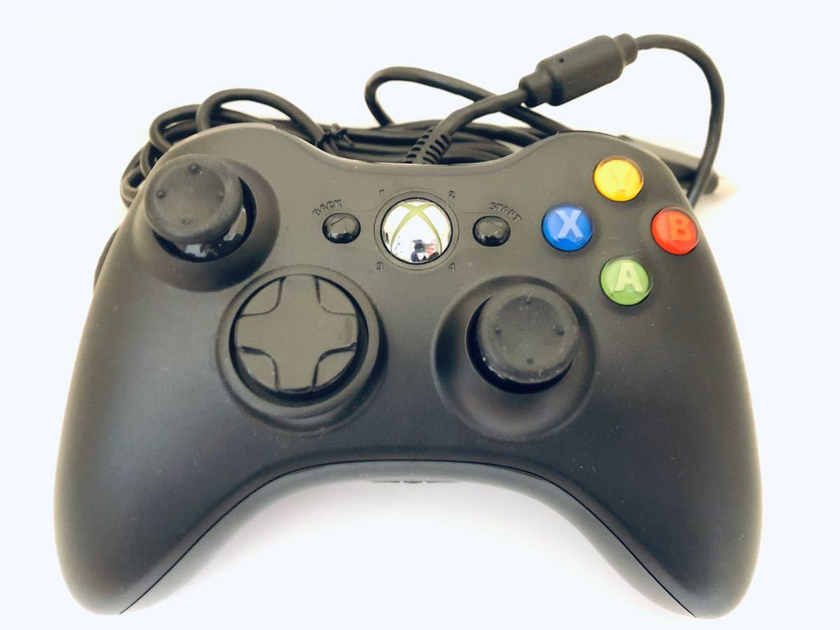 マイクロソフト ゲームコントローラー 有線 ブラック Xbox360