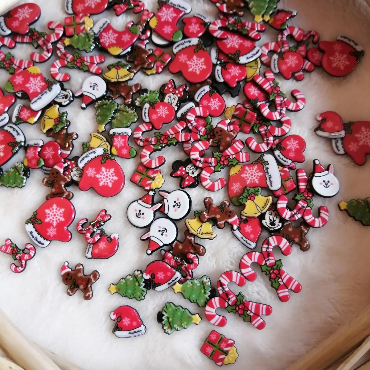 デコパーツ プラパーツ ハンドメイド 手作り 花台 材料 大量 パーツ サンタ