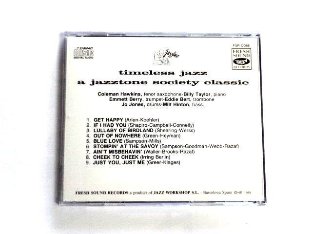 輸入盤 CD【FSR-CD88】Coleman Hawkins コールマン・ホーキンス / Coleman Hawkins And His All-Stars / 送料310円~_画像2