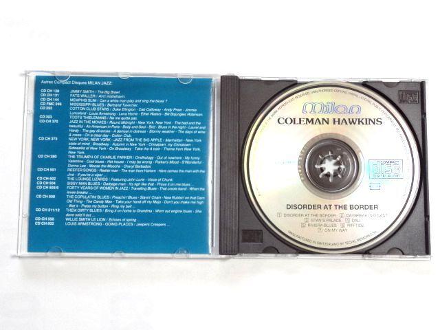 輸入盤 CD【MILAN CD CH-551】Coleman Hawkins コールマン・ホーキンス / Disorder At The Border / 送料310円~_画像3