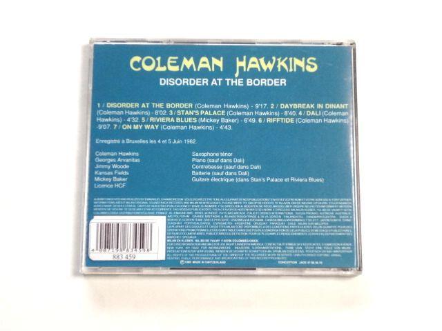 輸入盤 CD【MILAN CD CH-551】Coleman Hawkins コールマン・ホーキンス / Disorder At The Border / 送料310円~_画像2