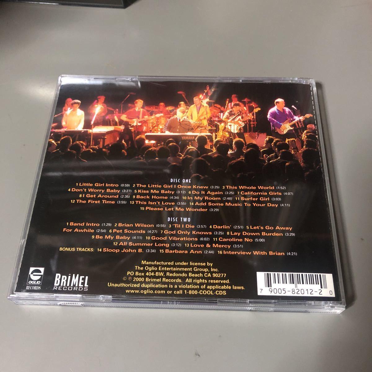 ブライアン・ウィルソン Brian Wilson Live At The Roxy Theatre USA盤2枚組CD