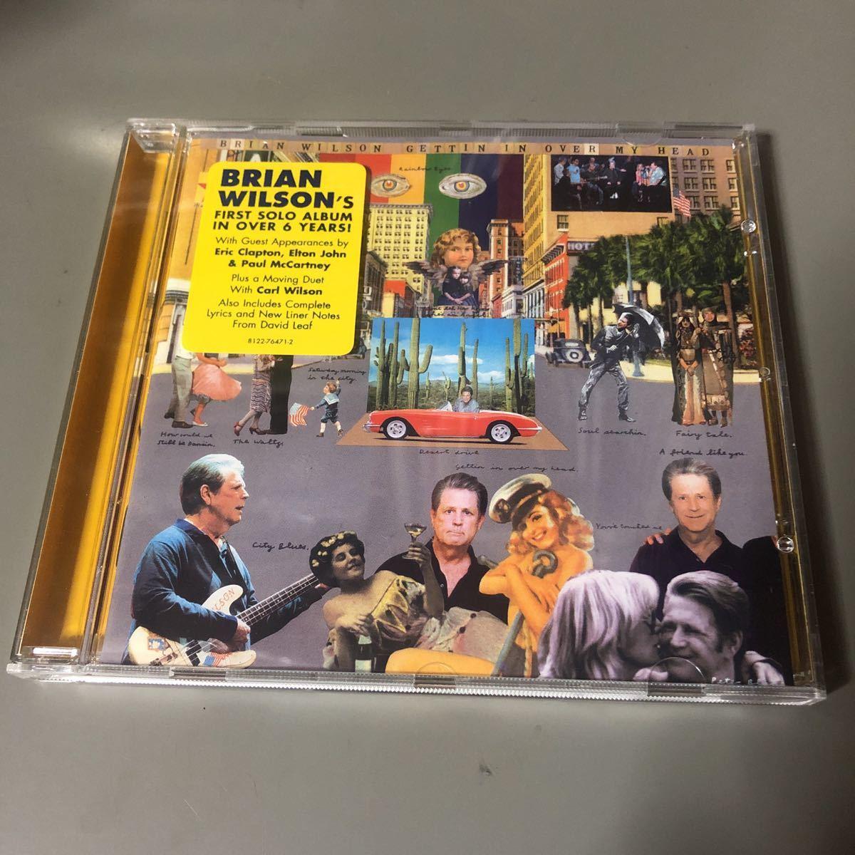 ブライアン・ウィルソン Brian Wilson Gettin' In Over My Head EU盤CD