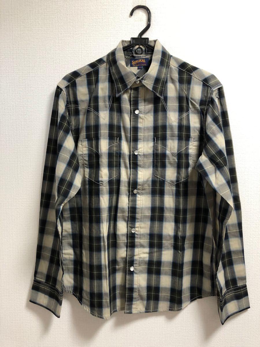 長袖シャツ チェックシャツ ネルシャツ 長袖 メンズ Mサイズ