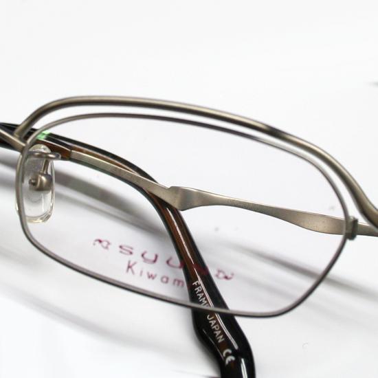 展示未使用品 Syun Kiwami/シュンキワミ メガネフレーム C-404 Pure Titanium 53□17-138 シルバー系 フルリム 日本製 オリエント眼鏡_画像7