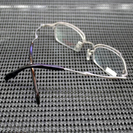 展示未使用品 Syun Kiwami/シュンキワミ メガネフレーム C-404 Pure Titanium 53□17-138 シルバー系 フルリム 日本製 オリエント眼鏡_画像2