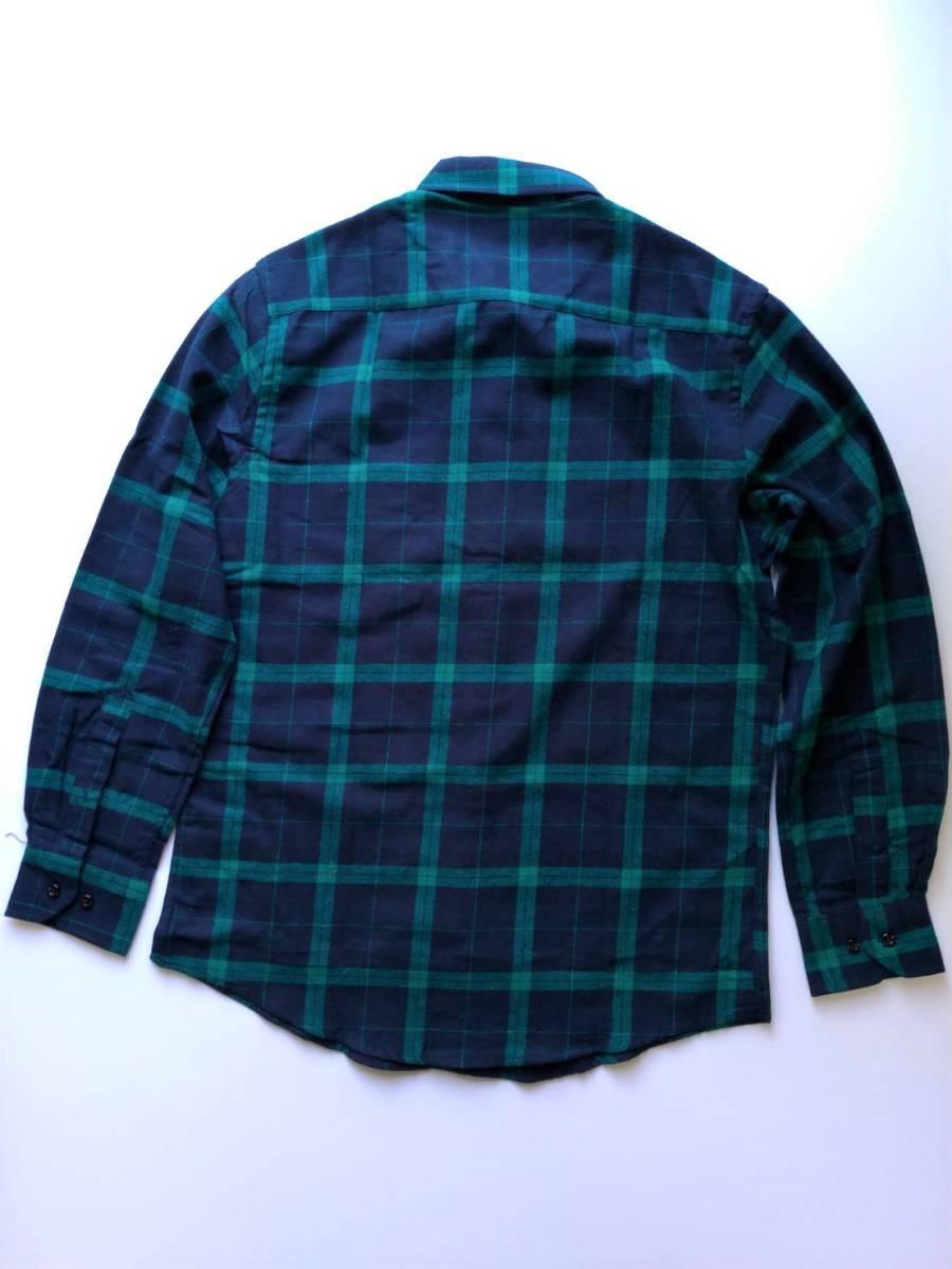 【シャツ】メンズ チェックシャツ 長袖 ブラウス Mサイズ カジュアル 紺 男性 ネイビー 緑 グリーン 秋 冬 送料無料 おしゃれ 重ね着 定番