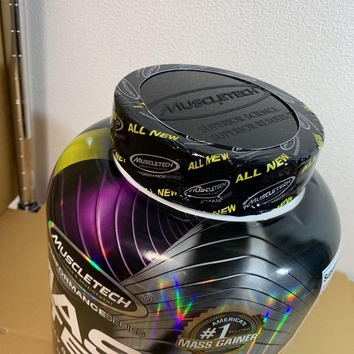 新品 送料込み MUSCLE TECH MASS TECH マッスルテック マステック 3.18kg ミルクチョコレート プロテイン マスゲイナー_画像2