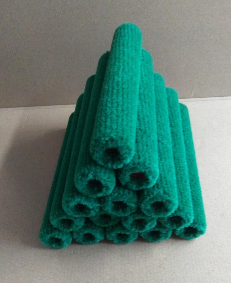 在庫処分 FRP用 塗布・脱泡兼用 スモールローラー グリーン 8インチx15本セット 200㎜ ネジ留め式 _画像2