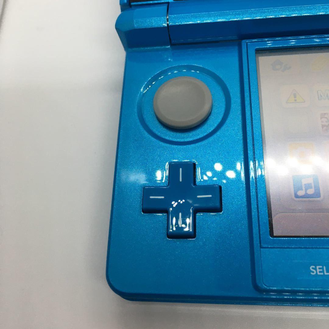 任天堂 ニンテンドー3DS ライトブルー タッチペン無し 難有り品