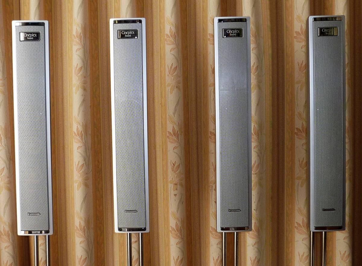 パナソニック ホームシアター6.1chシステム デジタルAVコントロールアンプ SA-XR50+スピーカーシステム SB-TP30 動作確認品_フロント用、サラウンド用 SB-FS30 4台