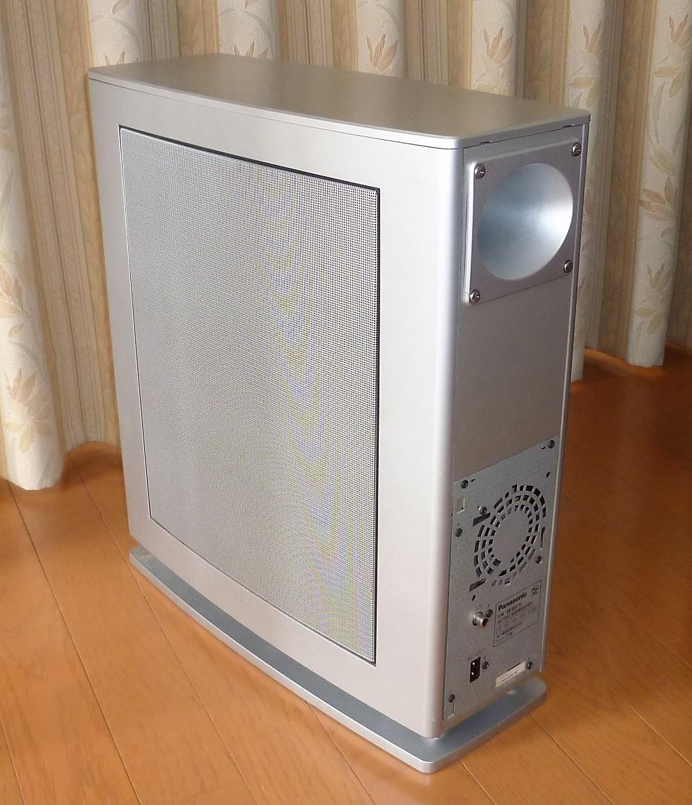 パナソニック ホームシアター6.1chシステム デジタルAVコントロールアンプ SA-XR50+スピーカーシステム SB-TP30 動作確認品_アクティブサブウーハーSB-WA70 背面、SP面