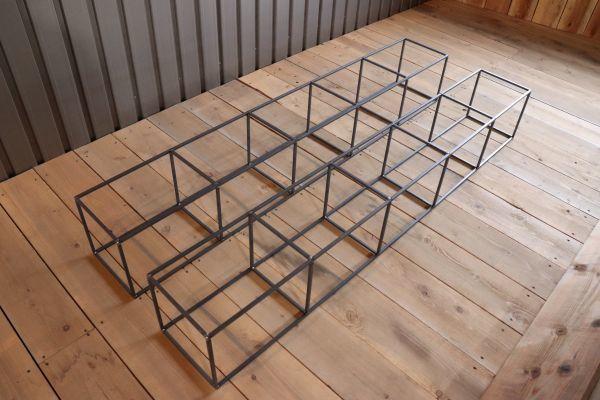 アイアンキューブフレーム 5段2個set シェルフ インダストリアル 店舗什器 ハンガーラック インダストリアル アンティーク 壁面 陳列棚_商品はアイアンキューブ5段2個のみです。