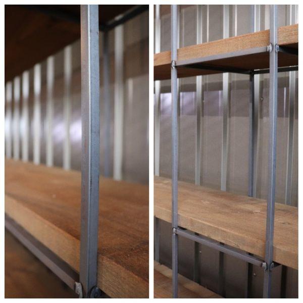 アイアンキューブフレーム 5段2個set シェルフ インダストリアル 店舗什器 ハンガーラック インダストリアル アンティーク 壁面 陳列棚_画像3