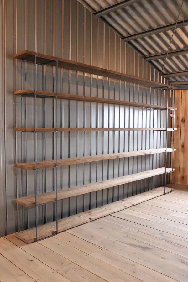 アイアンキューブフレーム 5段2個set シェルフ インダストリアル 店舗什器 ハンガーラック インダストリアル アンティーク 壁面 陳列棚_画像1