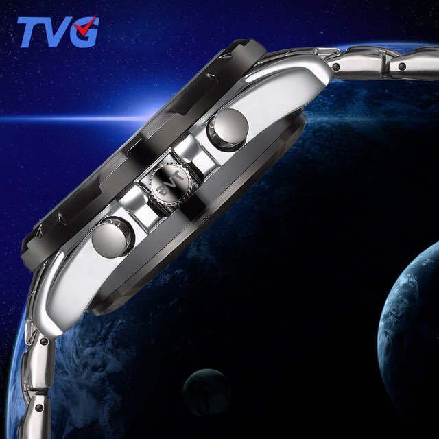 メンズ多機能クォーツ腕時計 防水デジタルスポーツウォッチ_画像5